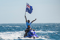 Namotu Island, Fiji (Tuesday, June 16, 2015) - Owen Wright (AUS) has won the Fiji Pro in historic fashion today, claiming his second Perfect 20 of the event in the Final heat against compatriot Julian Wilson (AUS) held in pumping eight-to-ten foot (2.5 - 3 metre) barrels.<br />  <br /> Stop No. 5 of 11 on the 2015 Championship Tour (CT), the Fiji Pro, has been treated to an abundance of swell and incredible performances by the world&rsquo;s best surfers, culminating today with Wright&rsquo;s unparalleled mastery of Cloudbreak.<br />  Wright was the form surfer of the event after a series of incredible performances and huge scores, including a flawless Round 5 heat where he posted his first perfect heat total (only the then-seventh in sport&rsquo;s history). The Australian made history today by delivering another Perfect 20 in the Final, the sport&rsquo;s eighth ever perfect heat total, as the first surfer to achieve this incredible feat twice in one event.<br /> Photo: joliphotos.com