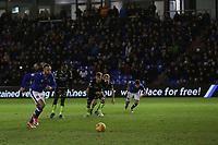 GOAL - Oldham Athletic's Craig Davies scores his side's equalising goal to make the score 1-1 during the Sky Bet League 1 match between Oldham Athletic and Bristol Rovers at Boundary Park, Oldham, England on 30 December 2017. Photo by Juel Miah / PRiME Media Images.