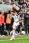 16.03.2019, BWT-Stadion am Hardtwald, Sandhausen, GER, 2. FBL, SV Sandhausen vs FC St. Pauli, <br /> <br /> DFL REGULATIONS PROHIBIT ANY USE OF PHOTOGRAPHS AS IMAGE SEQUENCES AND/OR QUASI-VIDEO.<br /> <br /> im Bild: Fabian Schleusner (#11, SV Sandhausen) jubelt mit Korbinian Vollmann (#22, SV Sandhausen) ueber das Tor zum 3:0<br /> <br /> Foto &copy; nordphoto / Fabisch