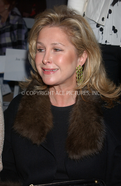WWW.ACEPIXS.COM . . . . . ....NEW YORK, FEBRUARY 9, 2005....Kathy Hilton at Day 6 of Olympus Fashion Week in Bryant Park.....Please byline: KRISTIN CALLAHAN - ACE PICTURES.. . . . . . ..Ace Pictures, Inc:  ..Philip Vaughan (646) 769-0430..e-mail: info@acepixs.com..web: http://www.acepixs.com