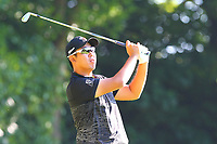 Byeong Hun An tees off from the 2nd tee during the BMW PGA Golf Championship at Wentworth Golf Course, Wentworth Drive, Virginia Water, England on 26 May 2017. Photo by Steve McCarthy/PRiME Media Images.