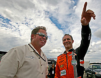8-9 August, 2008, Watkins Glen, New York USA<br /> Driver Mark Patterson, right, talks with team owner Michael Shank.<br /> &copy;2008, R. D. Ethan, USA<br /> LAT Photographic