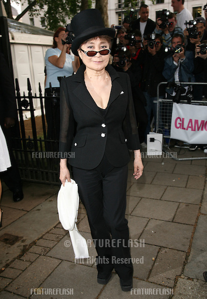 Yoko Ono arriving for the 2010 Glamour Awards, Berkeley Square, London. 08/06/2010  Picture by: Alexandra Glen / Featureflash