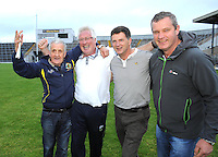 13-08-2014 : Pat Spillane, manager of the Kenmare District  team, celebrates with selectors Tom O'Connor, Michael Crowley and Teddy Harrington after winning  the  Kerry U-21 football Championship final at Fitzgerald Stadium, Killarney,  on Wednesday night. Picture: Eamonn Keogh (MacMonagle, Killarney)