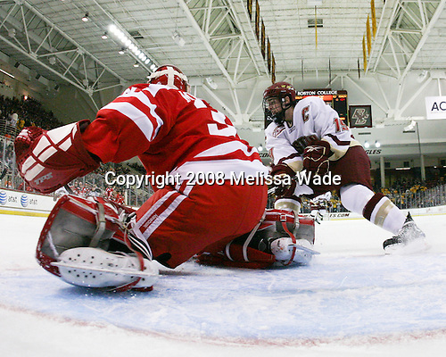 Kieran Millan (Boston University - 31), Brock Bradford (Boston College - 19) - The Boston University Terriers defeated the Boston College Eagles 3-1 at Kelley Rink in Conte Forum in Chestnut Hill, Massachusetts.