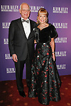 """Eric J. and Daria L. Wallach arrive at the Alvin Ailey American Dance Theater """"Modern American Songbook"""" opening night gala benefit at the New York City Center on November 29, 2017."""