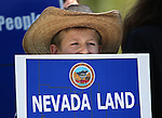 Hayden Bundy, 10, participates in a rally outside the Legislative Building in Carson City, Nev., on Tuesday, March 31, 2015. <br /> Photo by Cathleen Allison