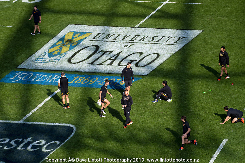 Jaguares captain's run at Forsyth Barr Stadium in Dunedin, New Zealand on Friday, 10 May 2019. Photo: Dave Lintott / lintottphoto.co.nz