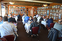 Interior, Soma's Restaurant, Fisherman's Wharf, San Francisco, California, USA, 201304131274<br /> <br /> Copyright Image from Victor Patterson, 54 Dorchester Park, Belfast, UK, BT9 6RJ<br /> <br /> Tel: +44 28 9066 1296<br /> Mob: +44 7802 353836<br /> Voicemail +44 20 8816 7153<br /> Skype: victorpattersonbelfast<br /> Email: victorpatterson@me.com<br /> Email: victorpatterson@ireland.com (back-up)<br /> <br /> IMPORTANT: If you wish to use this image or any other of my images please go to www.victorpatterson.com and click on the Terms &amp; Conditions. Then contact me by email or phone with the reference number(s) of the image(s) concerned.