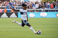 SAN JOSE, CA - AUGUST 24: Yordy Reyna #29 of the Vancouver Whitecaps during a game between Vancouver Whitecaps FC and San Jose Earthquakes at Avaya Stadium on August 24, 2019 in San Jose, California.
