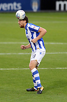 Tom Eastman of Colchester United gets his head to the aerial ball during Colchester United vs Mansfield Town, Sky Bet EFL League 2 Football at the Weston Homes Community Stadium on 7th October 2017