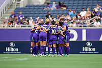 Orlando, FL - Saturday September 24, 2016: Orlando Pride prior to a regular season National Women's Soccer League (NWSL) match between the Orlando Pride and FC Kansas City at Camping World Stadium.