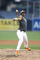 Dion Henderson (11) of the West team pitches during the 2015 Perfect Game All-American Classic at Petco Park on August 16, 2015 in San Diego, California. The East squad defeated the West, 3-1. (Larry Goren/Four Seam Images)