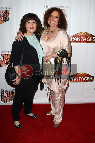 """Melissa Manchester and sister<br /> at the """"42nd Street"""" Opening, Pantages, Hollywood, CA 05-31-16<br /> David Edwards/Dailyceleb.com 818-249-4998"""