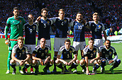 June 10th 2017, Hampden park, Glasgow, Scotland; World Cup 2018 Qualifying football, Scotland versus England; Scotland pre match lineup
