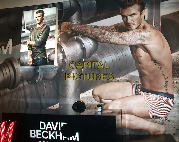 NEW YORK, NY - FEBRUARY 1: David Beckham visits H&amp;M Times Square to promote his latest David Beckham Bodywear collection and promote his new TV advertisement letting voters decide which ad will be played during this year's Super Bowl. New York City. February 1, 2014.  <br /> CAP/MPI/RW<br /> &copy;RW/ MediaPunch/Capital Pictures