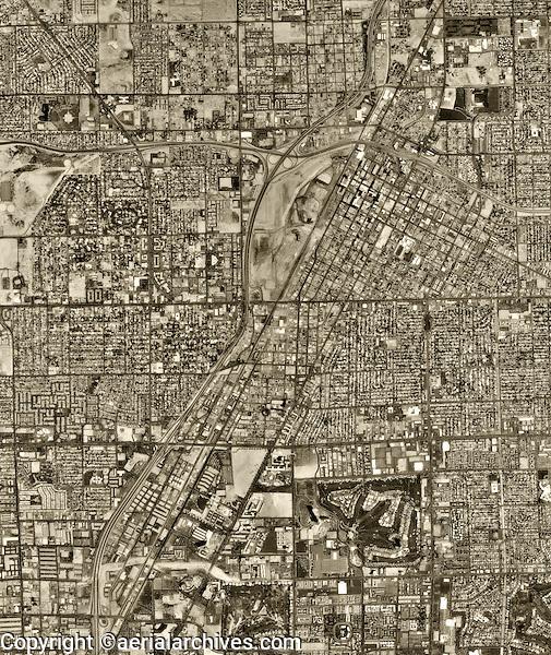 historical aerial photograph Las Vegas, Nevada, 1994