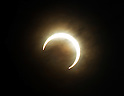 May 21, 2012, Tokorozawa, Japan - The sun reappears from behind the silhouetted moon during the annular solar eclipse seen in Tokorozawa, Tokyos western suburbs on Monday, May 21, 2012...From southern Kyushu to Tohoku, northeastern Japan, some 83 million people along the Pacific Coasts observed the rare phenomenon. In Tokyo, it was viewed for the first time in 173 years. (Photo by Natsuki Sakai/AFLO) AYF -mis-.