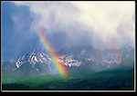 Rainbow over the Sneffels Range, San Juan Mountains, Ridgeway, Colorado. John guides custom photo tours in the Sneffels Range and throughout Colorado.