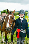 Sally Ann Lenihan from The Spa, Tralee who won third place in the Working Hunters Jumpers at the KERRY PONY SOCIETY 37th Annual Show & Gymkhana At Blennerville on Sunday