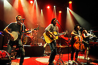 LONDON, ENGLAND - AUGUST 30: Scott Avett, Seth Avett, Joe Kwon and Tania Elizabeth of 'The Avett Brothers' performing at Shepherd's Bush Empire on August 30, 2016 in London, England.<br /> CAP/MAR<br /> &copy;MAR/Capital Pictures /MediaPunch ***NORTH AND SOUTH AMERICAS ONLY***