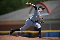 West Virginia Black Bears relief pitcher Gavin Wallace (36) delivers a pitch during a game against the Batavia Muckdogs on June 25, 2017 at Dwyer Stadium in Batavia, New York.  West Virginia defeated Batavia 6-4 in the completion of the game started on June 24th.  (Mike Janes/Four Seam Images)