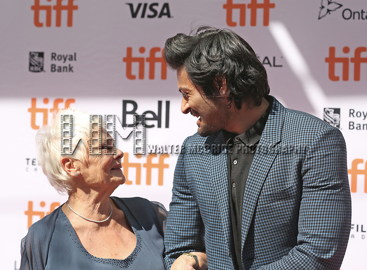 Judi Dench and Ali Fazal attends the 'Victoria & Abdul' premiere during the 2017 Toronto International Film Festival at Princess of Wales Theatre on September 10, 2017 in Toronto, Canada.