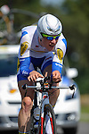 SITTARD, NETHERLANDS - AUGUST 16: Gijs Van Hoecke of Belgium riding for Topsport Vlaanderen-Baloise competes during stage 5 of the Eneco Tour 2013, a 13km individual time trial from Sittard to Geleen, on August 16, 2013 in Sittard, Netherlands. (Photo by Dirk Markgraf/www.265-images.com)