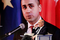 Nicola Zingaretti and on the screen Luigi Di Maio<br /> Rome January 21st 2020. The secretary of Democratic party appears as a guest on the tv show Porta a Porta<br /> Foto Samantha Zucchi Insidefoto