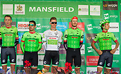 6th September 2017, Mansfield, England; OVO Energy Tour of Britain Cycling; Stage 4, Mansfield to Newark-On-Trent;  The Cannondale - Draypac team pose for photos after registration sign-in at Mansfield