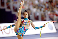 September 27, 2003; Budapest, Hungary; IRINA TCHACHINA of Russia performs with hoop at 2003 World Championships.