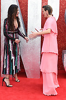 "Sandra Bullock & Sarah Paulson arriving for the ""Ocean's 8"" European premiere at the Cineworld Leicester Square, London, UK. <br /> 13 June  2018<br /> Picture: Steve Vas/Featureflash/SilverHub 0208 004 5359 sales@silverhubmedia.com"