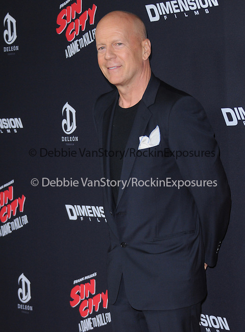 Bruce Willis attends The Dimension Film's L.A. Premiere of FRANK MILLER'S SIN CITY: A DAME TO KILL FOR held at  The TCL Chinese Theatre in Hollywood, California on August  19,2014                                                                               © 2014 Hollywood Press Agency