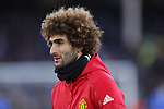 Marouane Fellaini of Manchester United warms up before the Premier League match at Goodison Park, Liverpool. Picture date: December 4th, 2016.Photo credit should read: Lynne Cameron/Sportimage