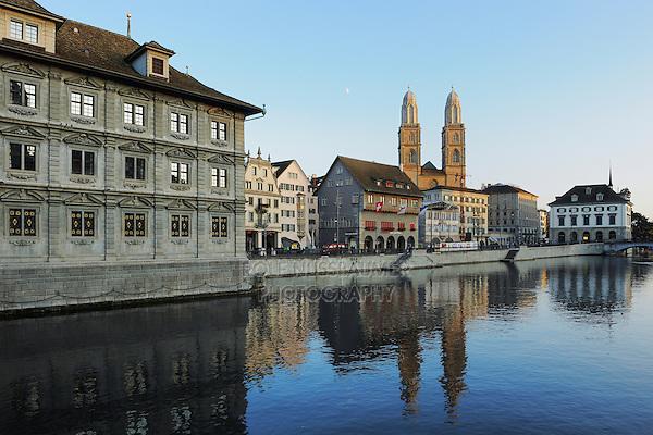 Grossmuenster,Zurich, Switzerland, Europe