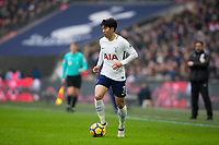Tottenham Hotspur's Son Heung-Min in action <br /> <br /> Photographer Craig Mercer/CameraSport<br /> <br /> The Premier League - Tottenham Hotspur v Huddersfield Town - Saturday 3rd March 2018 - Wembley Stadium - London<br /> <br /> World Copyright &copy; 2018 CameraSport. All rights reserved. 43 Linden Ave. Countesthorpe. Leicester. England. LE8 5PG - Tel: +44 (0) 116 277 4147 - admin@camerasport.com - www.camerasport.com