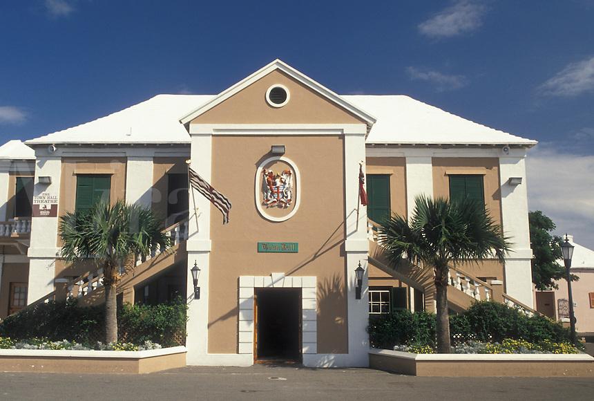 Bermuda, St. George's Parish, Old Town Hall in St George in Bermuda.