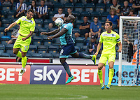 Adebayo Akinfenwa of Wycombe Wanderers during the Sky Bet League 2 match between Wycombe Wanderers and Colchester United at Adams Park, High Wycombe, England on 27 August 2016. Photo by Liam McAvoy.