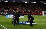 Precise measurements of the Champions League imagery during the Champions League Group E match at the Anfield Stadium, Liverpool. Picture date 13th September 2017. Picture credit should read: Simon Bellis/Sportimage
