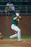 Siena Saints pinch hitter Patrick Ortland (27) at bat during a game against the Stetson Hatters on February 23, 2016 at Melching Field at Conrad Park in DeLand, Florida.  Stetson defeated Siena 5-3.  (Mike Janes/Four Seam Images)