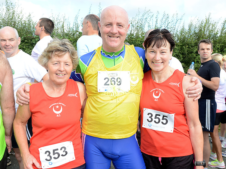 Mary Lynn, Benner Maguire and Margaret McAuley who took part in the Duleek 10K run. Photo:Colin Bell/pressphotos.ie