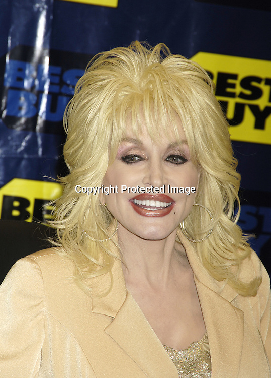 """Dolly Parton ..at a signing of her new CD """"Those Were the Days""""..at the new Best Buy Midtown Store on Fifth Avenue on October 20, 2005. Photo by Robin Platzer, Twin Images"""
