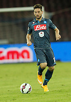 Dries Mertens    in action during the Italian Serie A soccer match between SSC Napoli and Verona  at San Paolo stadium in Naples, October 26, 2014