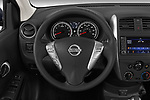 Car pictures of steering wheel view of a 2019 Nissan Versa-Sedan SV 4 Door Sedan Steering Wheel