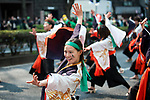 Performers dance during the 25th Annual St. Patrick's Day Parade on Sunday, March 19, 2017 in Tokyo, Japan.<br /> Photo by Kevin Clifford