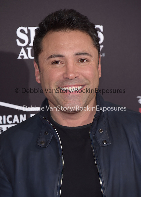 Oscar de la Hoya attends The Disney Premiere of McFarland, USA held at The El Capitan Theater  in Hollywood, California on February 09,2015                                                                               © 2015 Hollywood Press Agency
