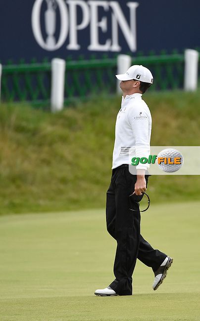 Zach JOHNSON (USA) wins the Championship, after 4 playoff holes, on the 18th green during Monday's Final Round of the 144th Open Championship, St Andrews Old Course, St Andrews, Fife, Scotland. 20/07/2015.<br /> Picture Eoin Clarke, www.golffile.ie
