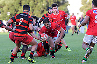 Action from the Wellington Swindale Shield premier club rugby match between Poneke and Marist St Pat's at Kilbirnie Park in Wellington, New Zealand on Saturday, 19 May 2018. Photo: Dave Lintott / lintottphoto.co.nz