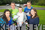 Leaving Cert students from Brookfield College, Tralee, who got their results on Wednesday, from left: Niamh O'Mahony (Castleisland), Kevin McCarthy (Tralee), Daniel Sheehy (Tralee), Ronan Murphy (Beaufort) and Aine Daly (Scartaglen)...