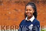 Palesa Hlongwane, Presentation Secondary School, Tralee who was winner of the (Junior National Title Poetry Aloud Award)